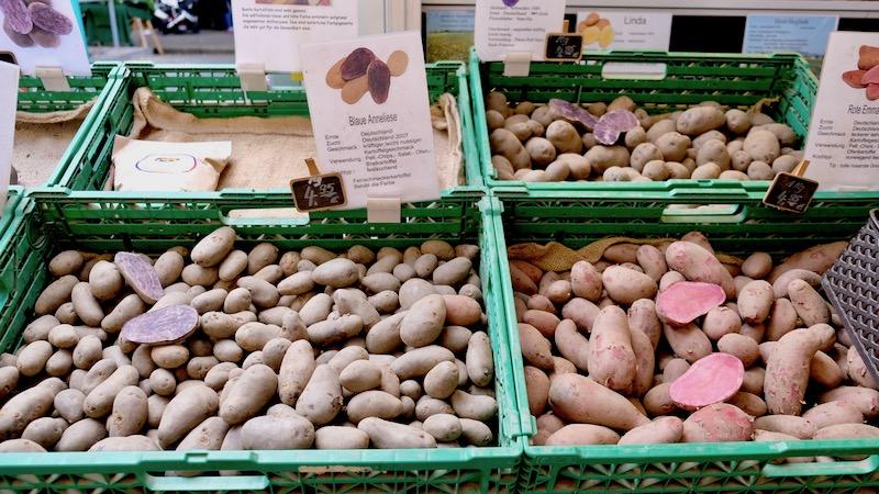 Kartoffeln auf dem Türkenmarkt aka. Wochenmarkt am Maybachufer in Berlin Kreuzberg