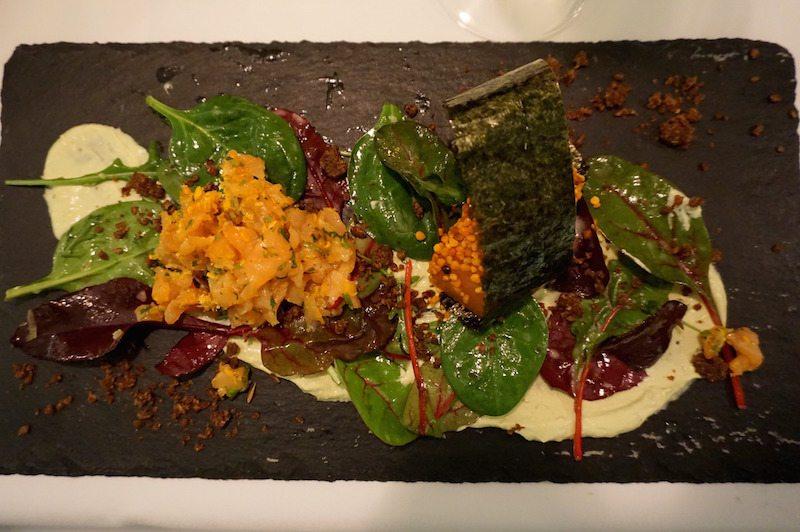 Berlin-Restaurant-Schatz-Lachs-Vorspeise-1