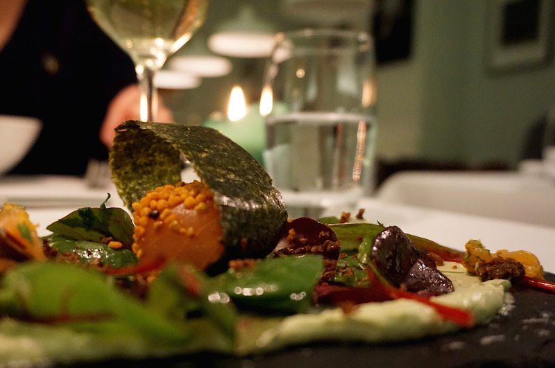 Berlin-Restaurant-Schatz-Lachs-Vorspeise