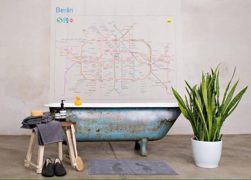 rushower der duschvorhang f r berlin berlin ick liebe dir. Black Bedroom Furniture Sets. Home Design Ideas
