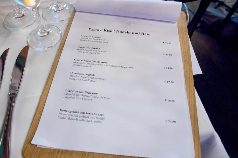 Nudel- und Reisgerichte inklusive Preis aus der Speisekarte des Centolire