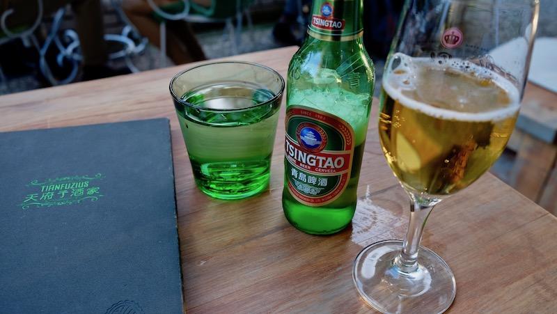 Chinesisches Bier im Tianfuzius in Schöneberg