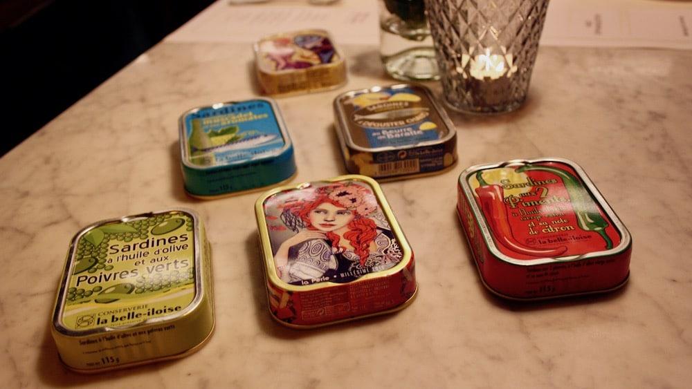 Sardinenschachteln in der Brasserie Colette von Tim Raue