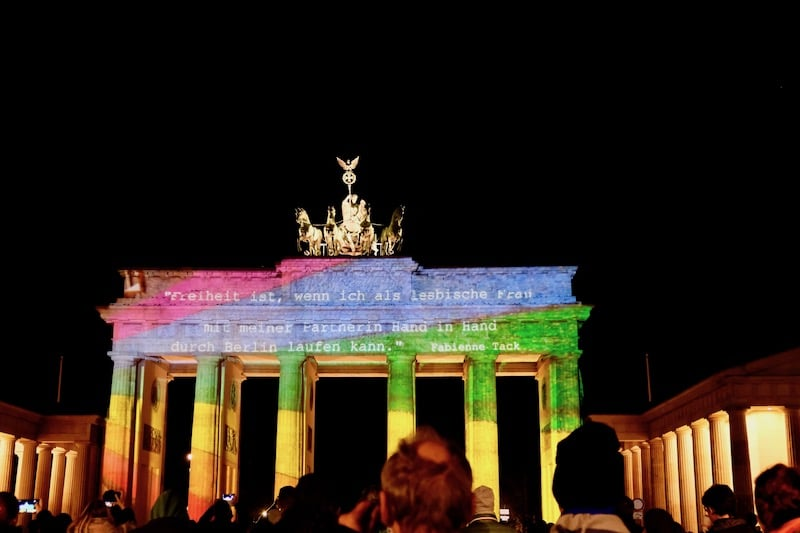 Brandenburger Tor zum Festival of Lights in Berlin 2017