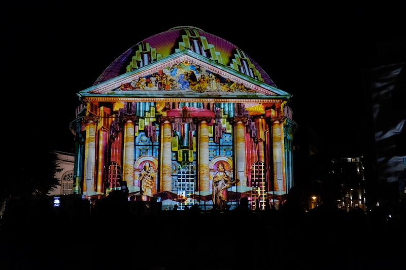 St. Hedwig Kathedrale zum Festival of Lights in Berlin 2017