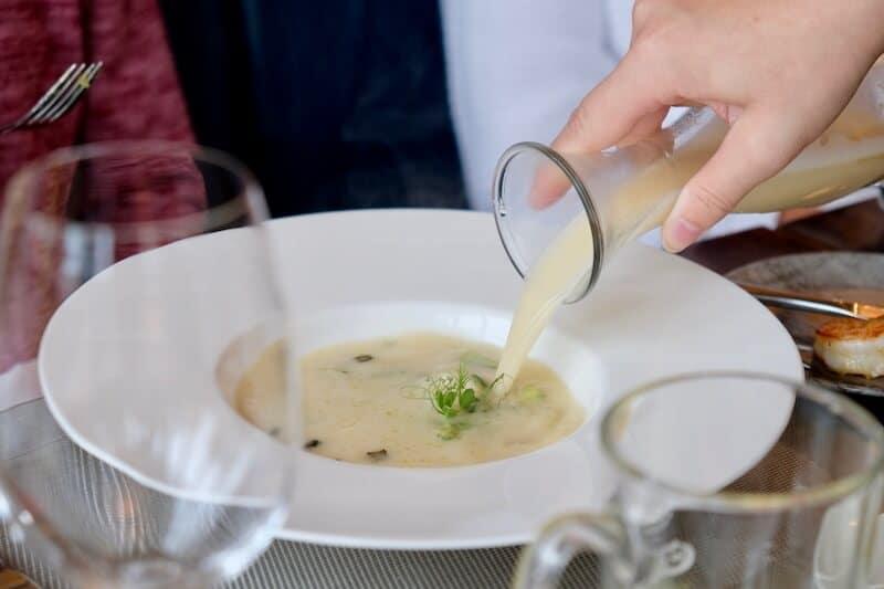 Suppe im Hafenrestaurant Ernest am Schwielowsee