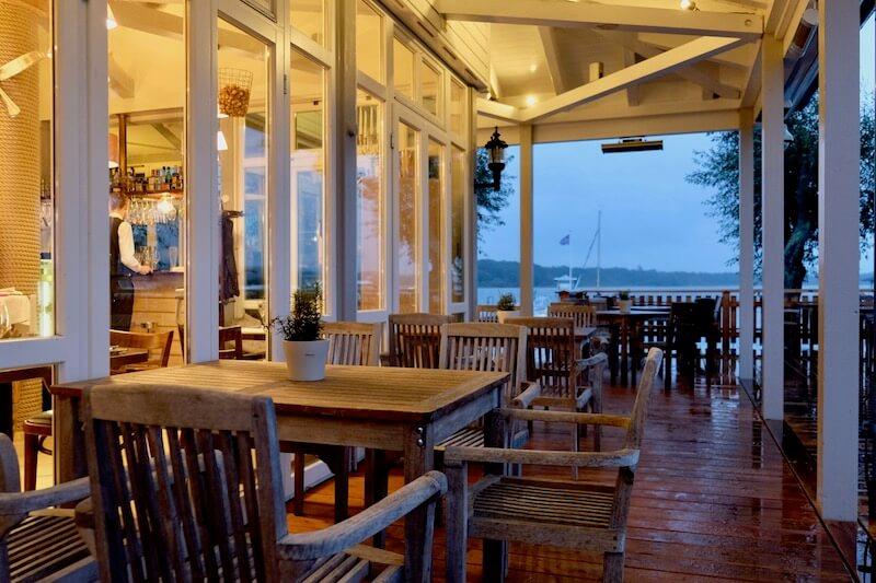 Terrasse im Hafenrestaurant Ernest am Schwielowsee