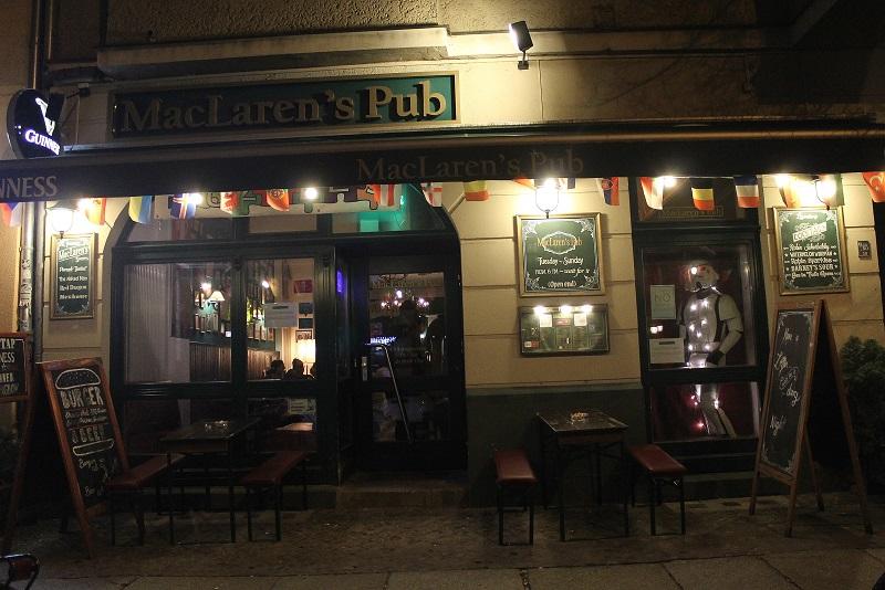 MacLaren's Pub, Eingang, Boxenhagener Straße