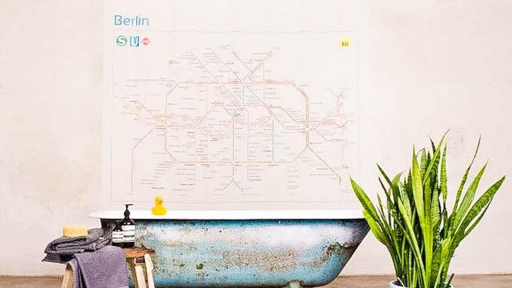 Rushower Der Duschvorhang Fur Berlin Berlin Ick Liebe Dir