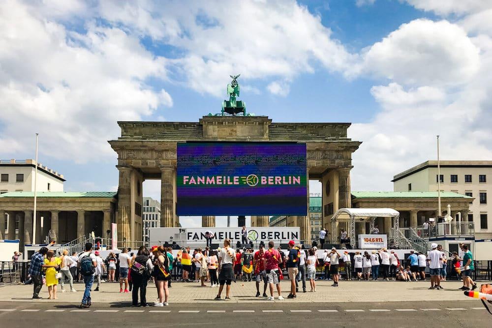 Die Fanmeile nur wenige Stunden vor dem ersten Deutschlandspiel zur WM 2018