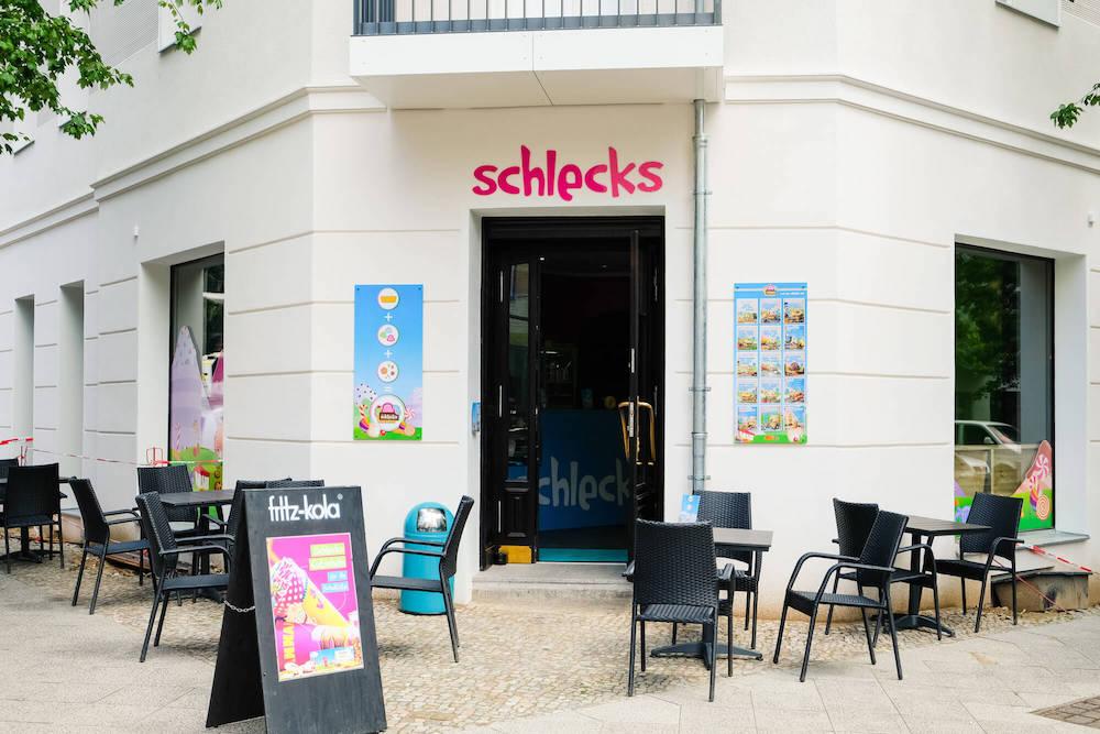 Das Schlecks in Berlin von außen - zu finden in der Winsstraße 30 in Prenzlauer Berg